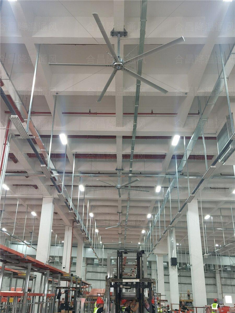 大型物流仓库降温通风选择润东方工业大风扇