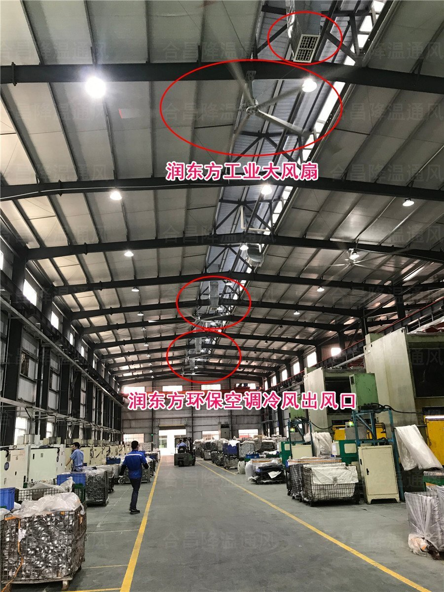 厂房降温通风扇机互补方案